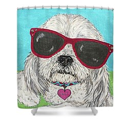 Laci With Shades Shower Curtain