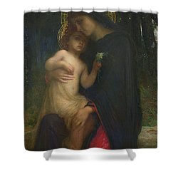 Laddolorata Shower Curtain by Antoine Auguste Ernest Herbert or Hebert