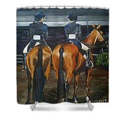 Ladies At Sussex Hunt Night Shower Curtain