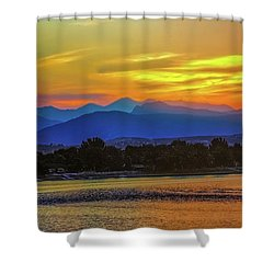 Ladies In The Sky Shower Curtain
