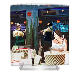 Shower Curtain featuring the painting Ladies Night by Judy Kay