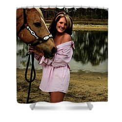 Lady And Her Horse Shower Curtain