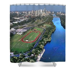 Lady Bird Lake Shower Curtain by Andrew Nourse