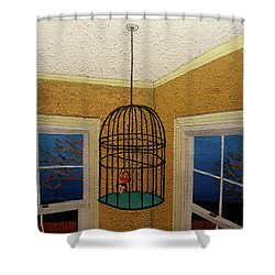 Lady Bird Shower Curtain