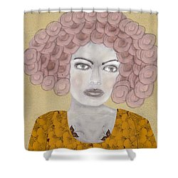 Shower Curtain featuring the painting Lady Butterfly by Bri B