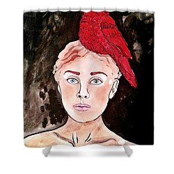 Lady Cardinal Shower Curtain