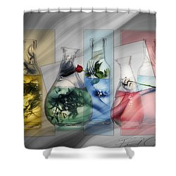 Lady In A Bottle Shower Curtain