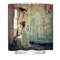 Lady In An Old Abandoned House Shower Curtain
