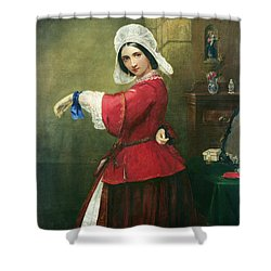 Lady In French Costume Shower Curtain by Edmund Harris Harden
