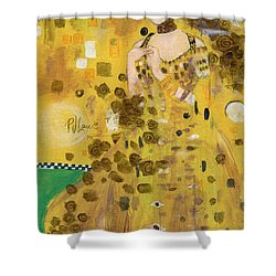 Lady In Gold Shower Curtain
