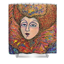 Lady-in-waiting Shower Curtain by Rae Chichilnitsky