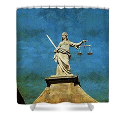Lady Justice. Streets Of Dublin. Painting Collection Shower Curtain