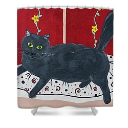 Lady Kitty Shower Curtain
