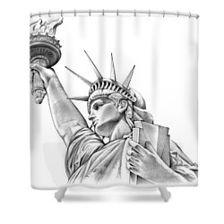 Lady Liberty Shower Curtain by Greg Joens