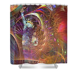 Lady Liberty Shower Curtain by John Beck