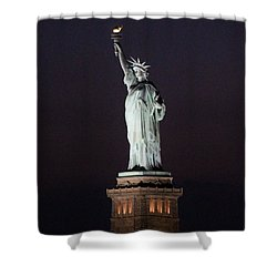 Lady Liberty Shower Curtain by Karen Silvestri