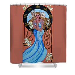 Lady Of The Lilly's  Shower Curtain by Susan Duda