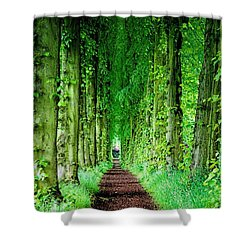 Lady Lucy's Walk Shower Curtain by Wallaroo Images