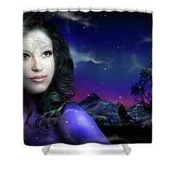 Lady Moon Shower Curtain