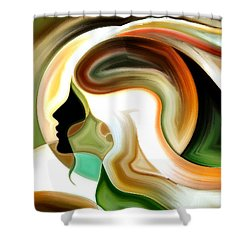 Shower Curtain featuring the painting Lady Of Color by Karen Showell