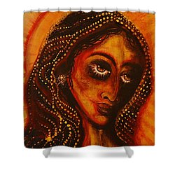 Lady Of Gold Shower Curtain