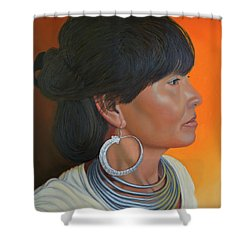 Lady Of Sapa Shower Curtain