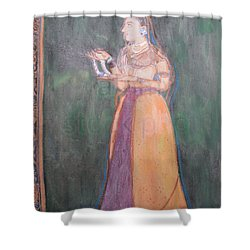 Lady Of The Court Shower Curtain