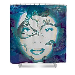 Lady Of The Lake Shower Curtain by Susan Maxwell Schmidt