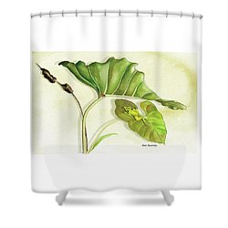 Lady On A Leaf Shower Curtain