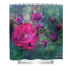 Lady Rose Shower Curtain by Agnieszka Mlicka