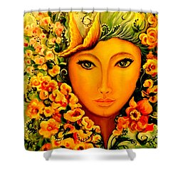 Shower Curtain featuring the painting Lady Sring by Yolanda Rodriguez