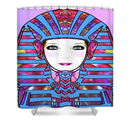 Shower Curtain featuring the photograph Lady Tut #191 by Barbara Tristan