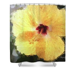 Lady Yellow Shower Curtain