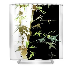 Shower Curtain featuring the mixed media Ladybug by Larry Talley