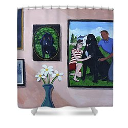 Lady's Family Gallery Shower Curtain