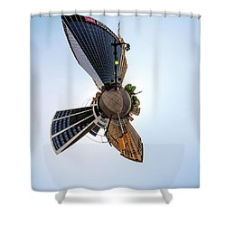 Lafayette Square Buffalo - Tiny Planet Shower Curtain
