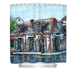 Lafitte's Blacksmith Shop Shower Curtain by Dianne Parks