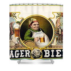 Lager Beer Stock Advertising Poster 1879 Shower Curtain