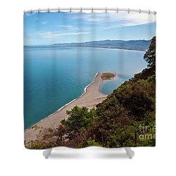 Lagoon Of Tindari On The Isle Of Sicily  Shower Curtain
