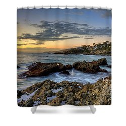 Laguna Beach Coastline Shower Curtain by Eddie Yerkish