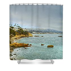 Laguna Beach Coastline Shower Curtain