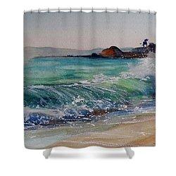 Laguna Beach North View Shower Curtain by Sandra Strohschein
