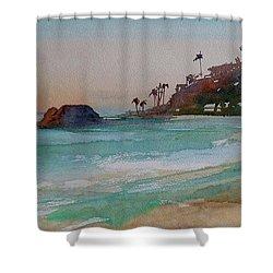 Laguna Beach Plein Air Shower Curtain by Sandra Strohschein