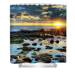 Laguna Beach Tidepools Shower Curtain by Eddie Yerkish