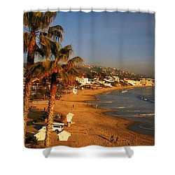 Laguna Beach Vista Shower Curtain by James Kirkikis