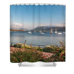 Gulf Of  Ullapool  - Photo Shower Curtain by Sergey Simanovsky