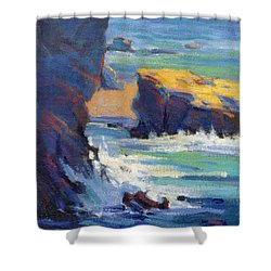 Laguna Rocks Shower Curtain