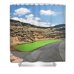 Shower Curtain featuring the photograph Laguna Verde by Delphimages Photo Creations