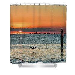 Laguna Vista Sunset Shower Curtain