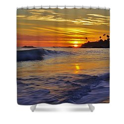 Laguna's Last Light Shower Curtain